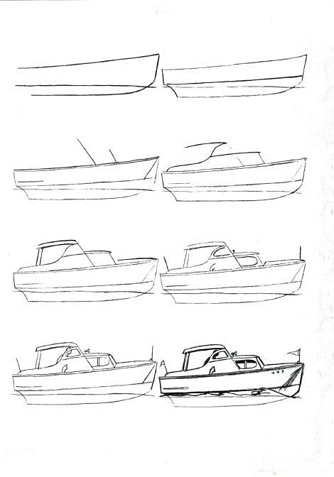 How to draw a boat step-by-step 8