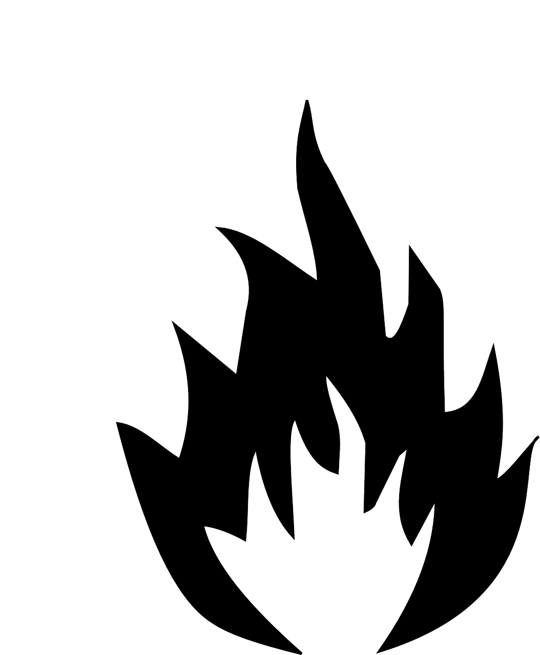 How to draw flames fire - free stencils 16