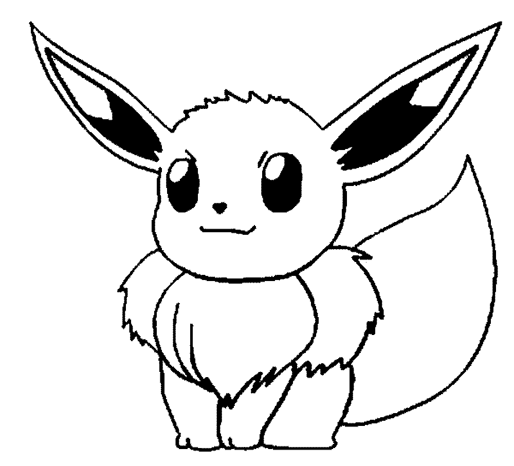 pokemon coloring pages big ears - Pokemon Coloring Pages Free