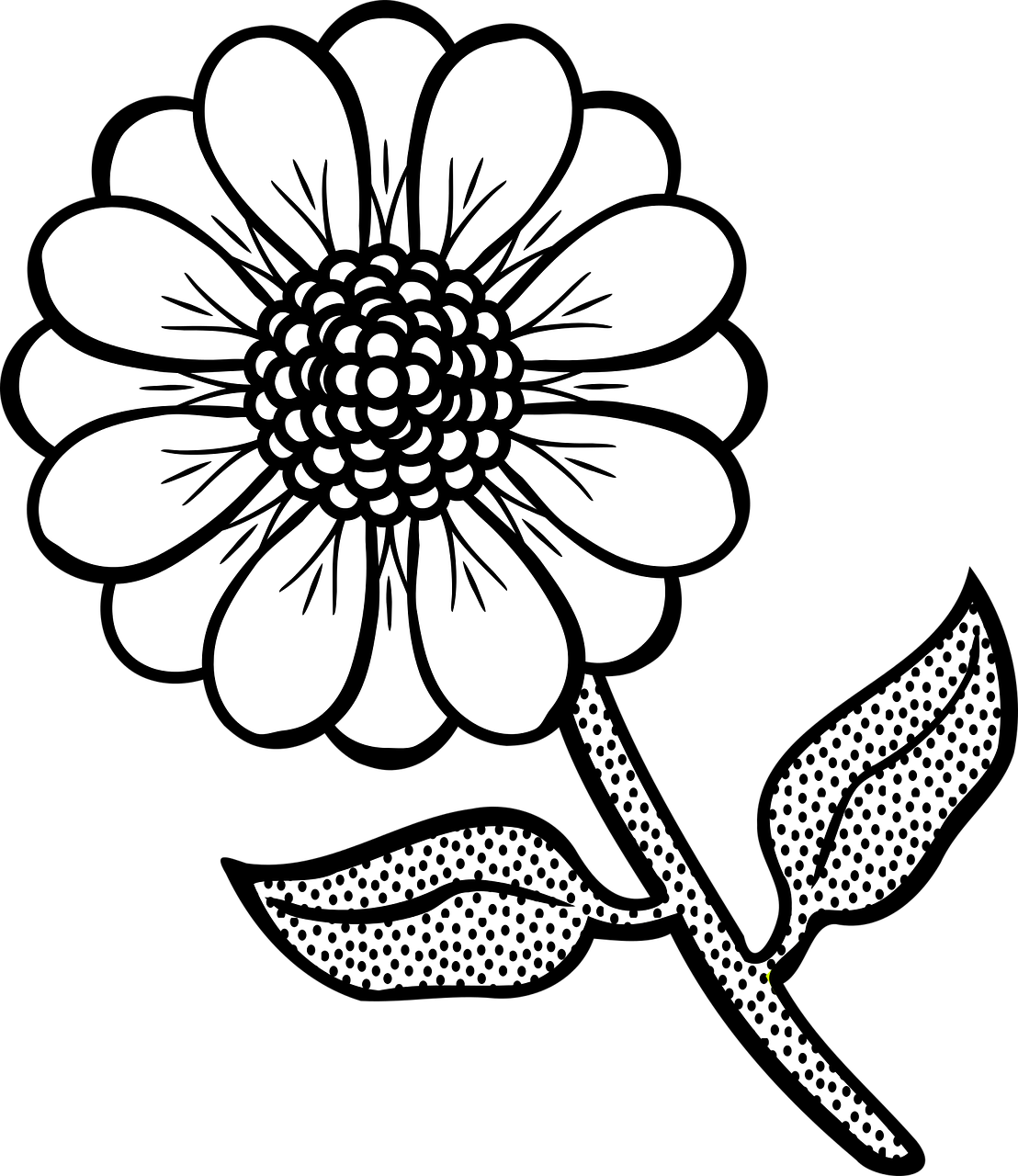 Free printable flower coloring pages 16 pics how to for Coloring pages of a flower