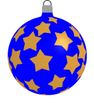 How to draw a Christmas bauble