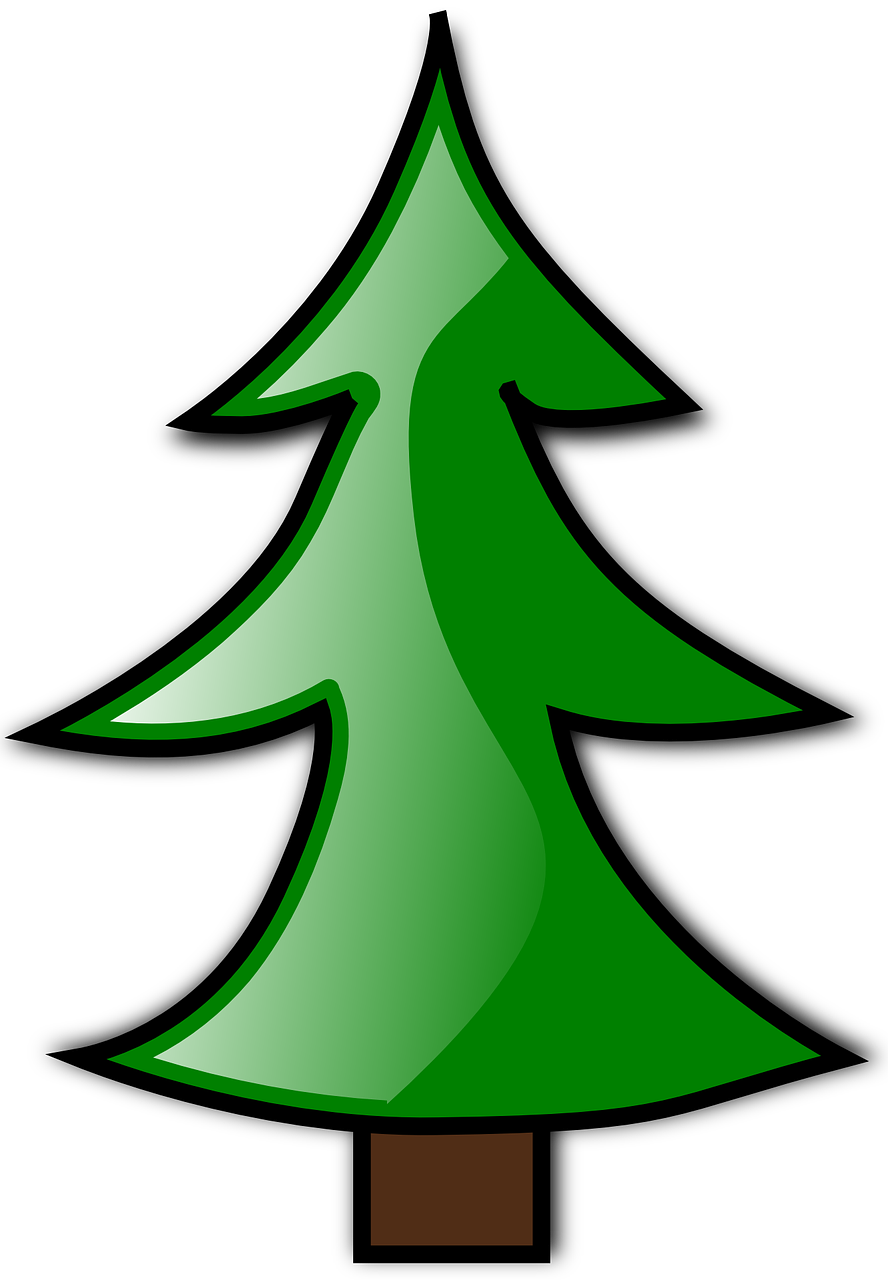 how to draw a Christmas tree 1
