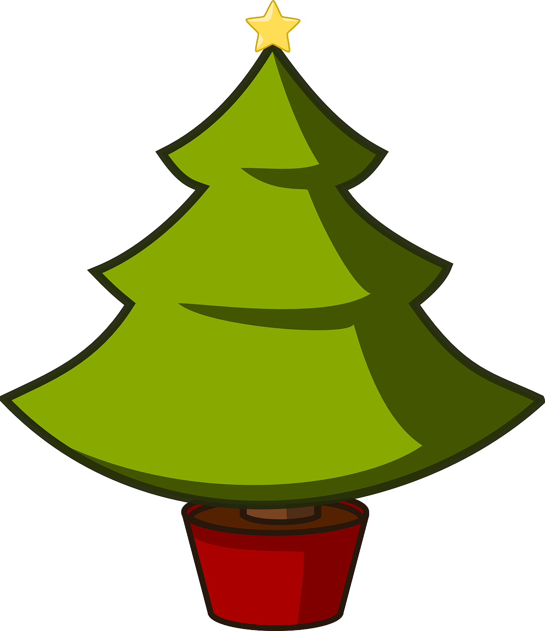how to draw a Christmas tree 2