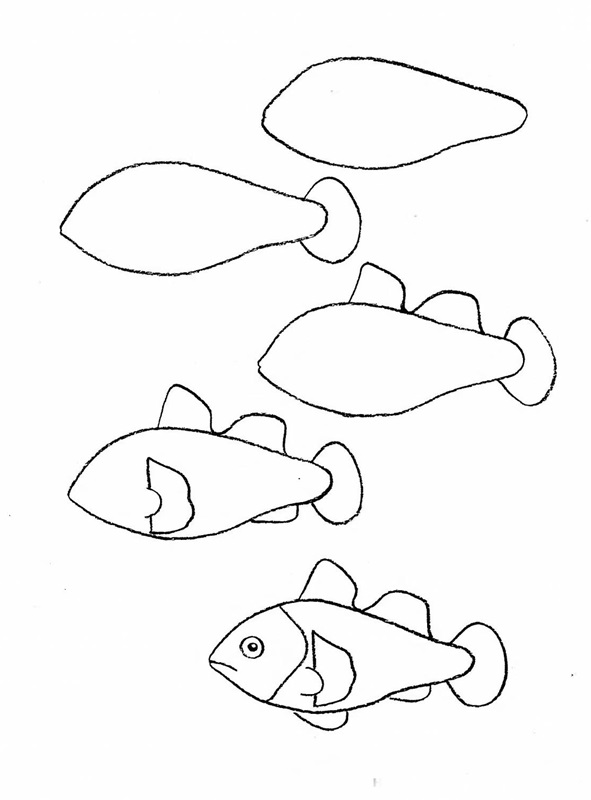 how to draw a fish 10