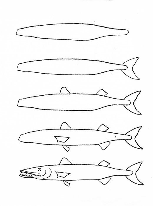 how to draw a fish 12