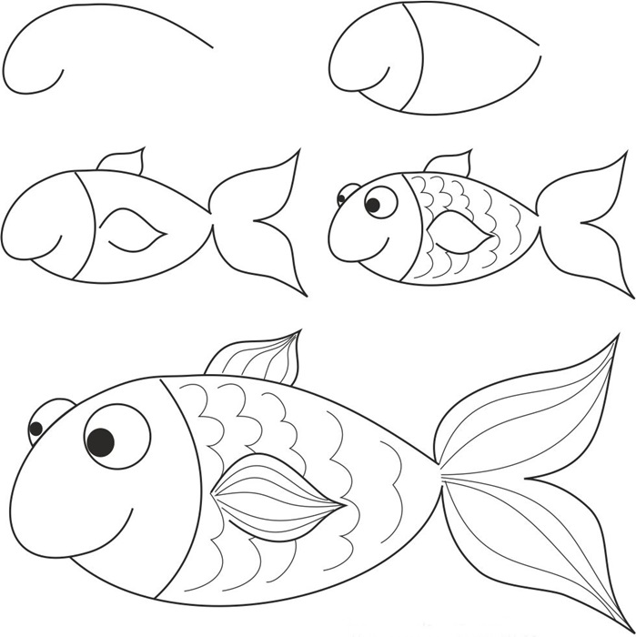 how to draw a fish 39