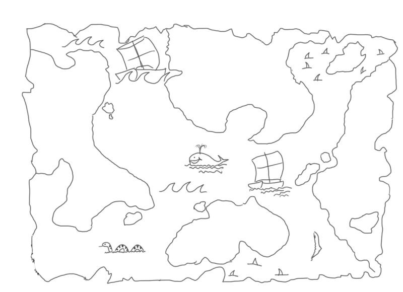 how to draw a treasure map, pirates map 11
