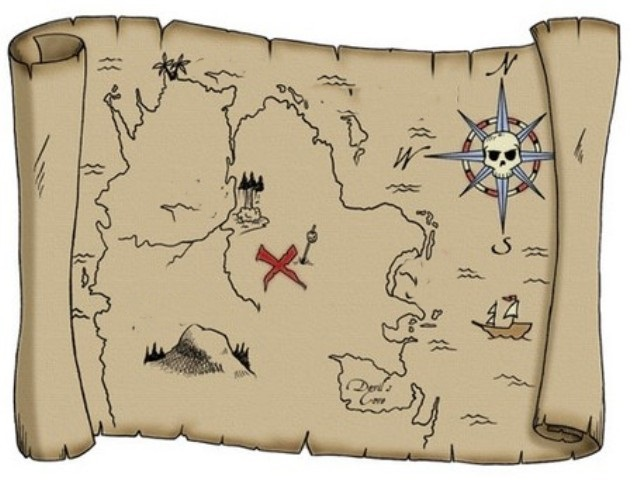 how to draw a treasure map, pirates map 13