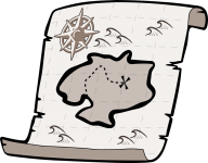 How to draw a treasure map, pirates map: free printable stencils, 20 pics