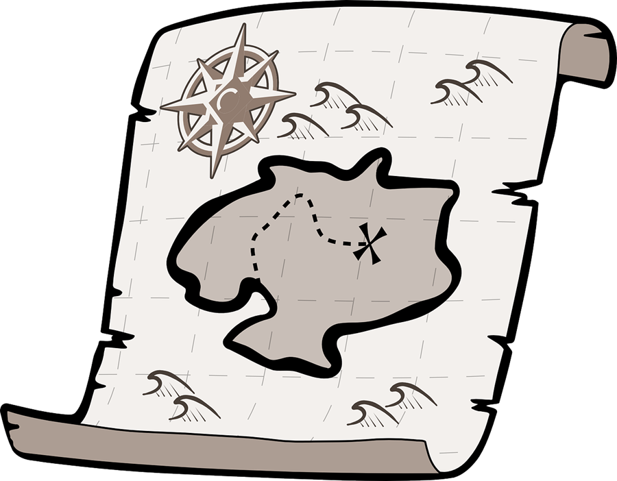 how to draw a treasure map, pirates map 14
