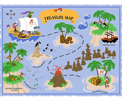 how to draw a treasure map, pirates map 9