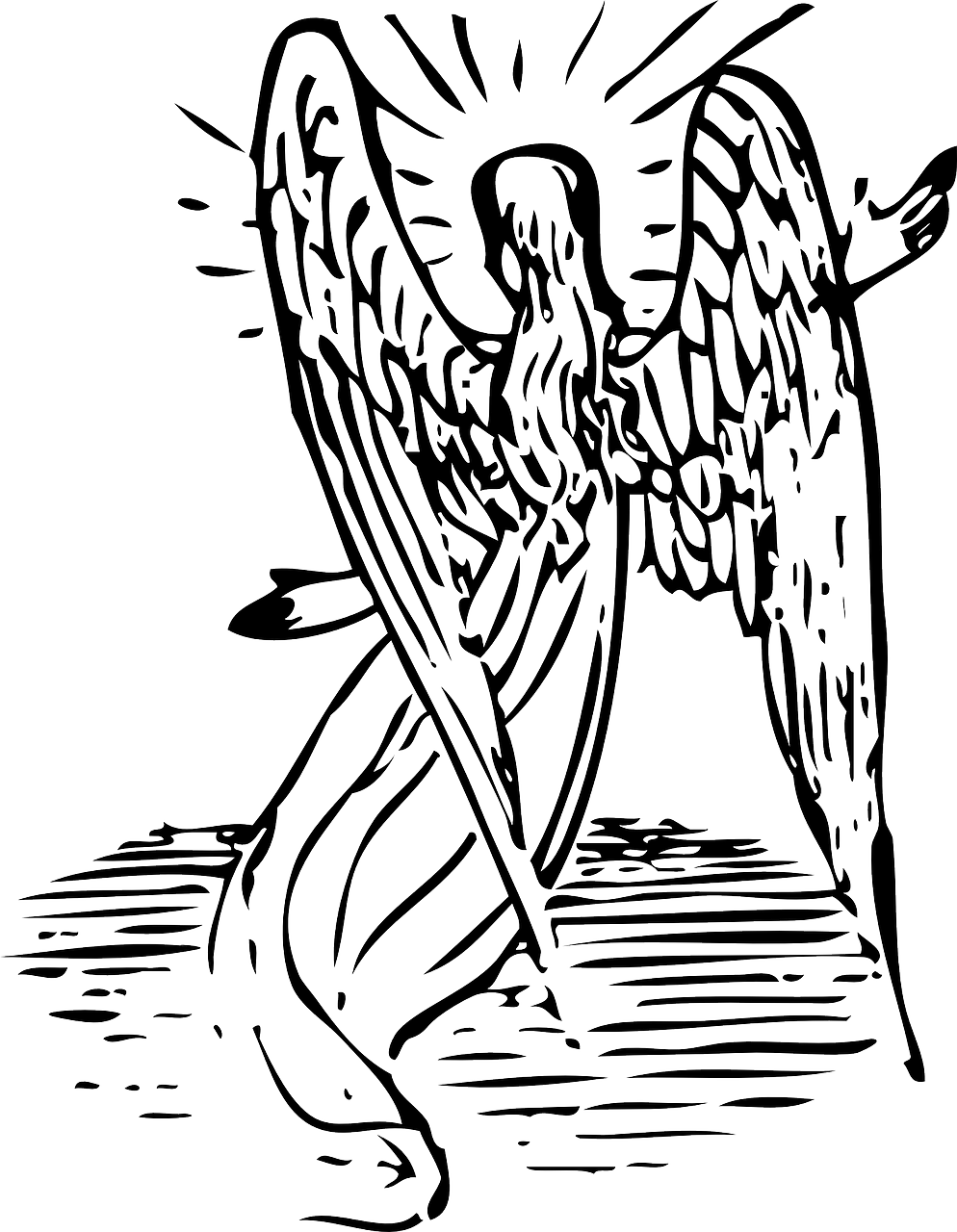 how to draw an angel 8