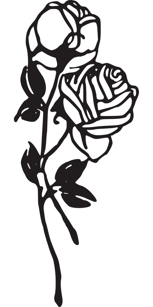 how to make a rose, stencil 8