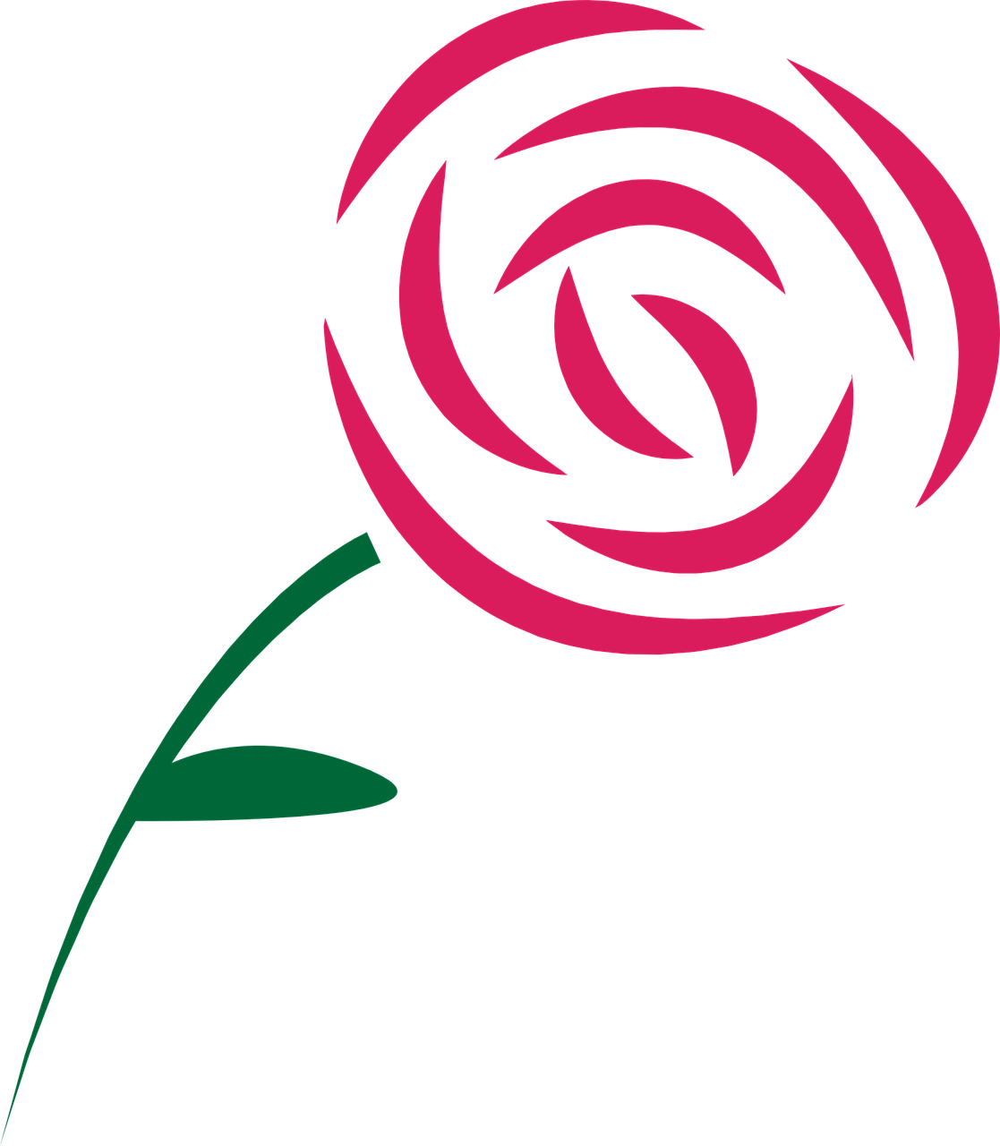 How draw a simple rose: 11 very simple examples