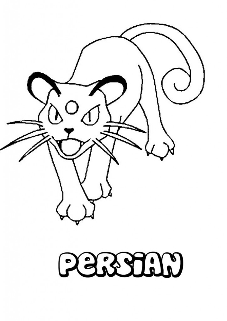 persian-pokemon-coloring-pages-Persian