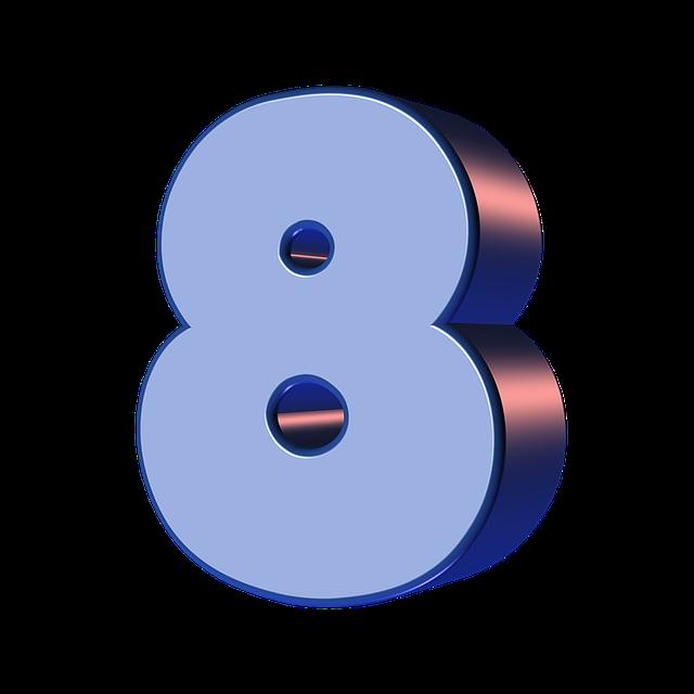 numbers printable 01 - 8
