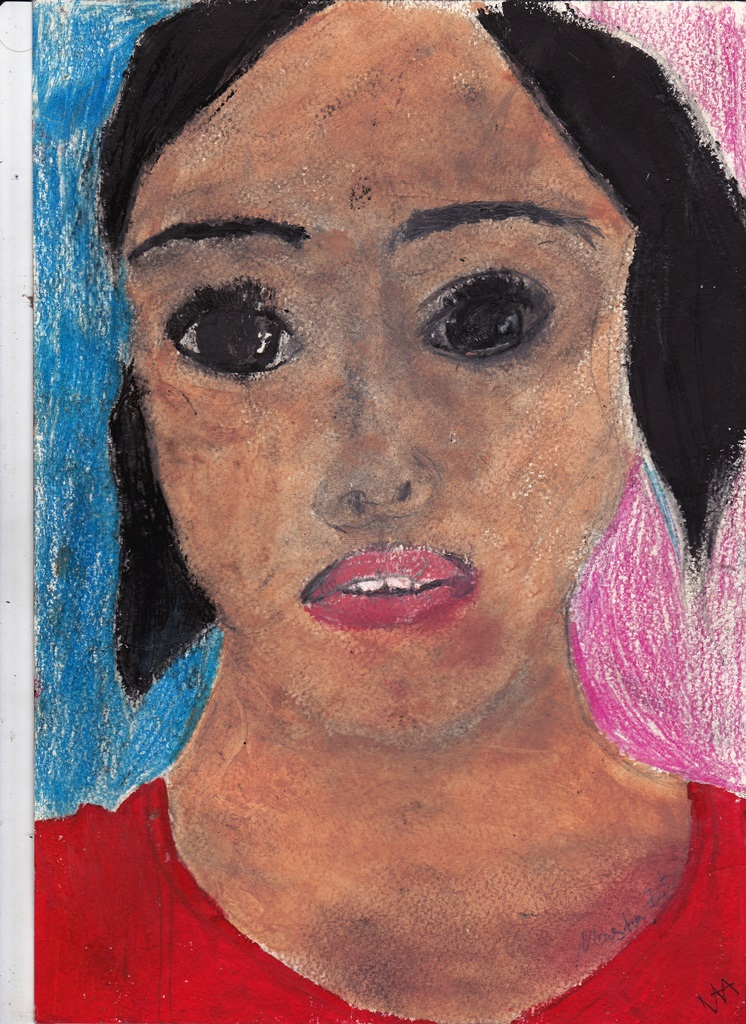 "Drawing of the girl's face ""Italian"""